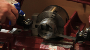Using a 3-jaw chuck in the bandsaw