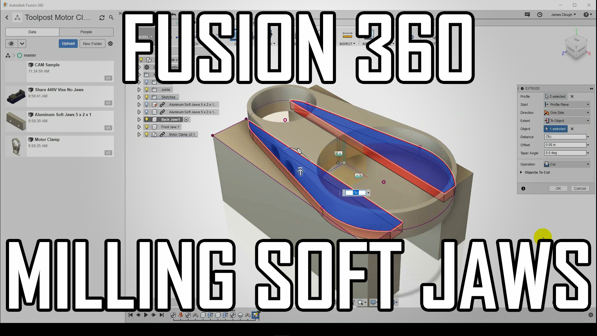 How to CNC Mill Soft Jaws in Fusion 360