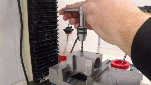 Tapping the clamp screw holes