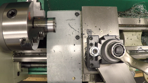 Mounting with spacer
