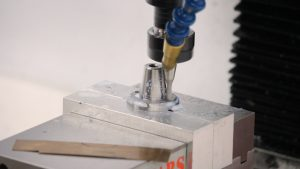 Milling the hole to size