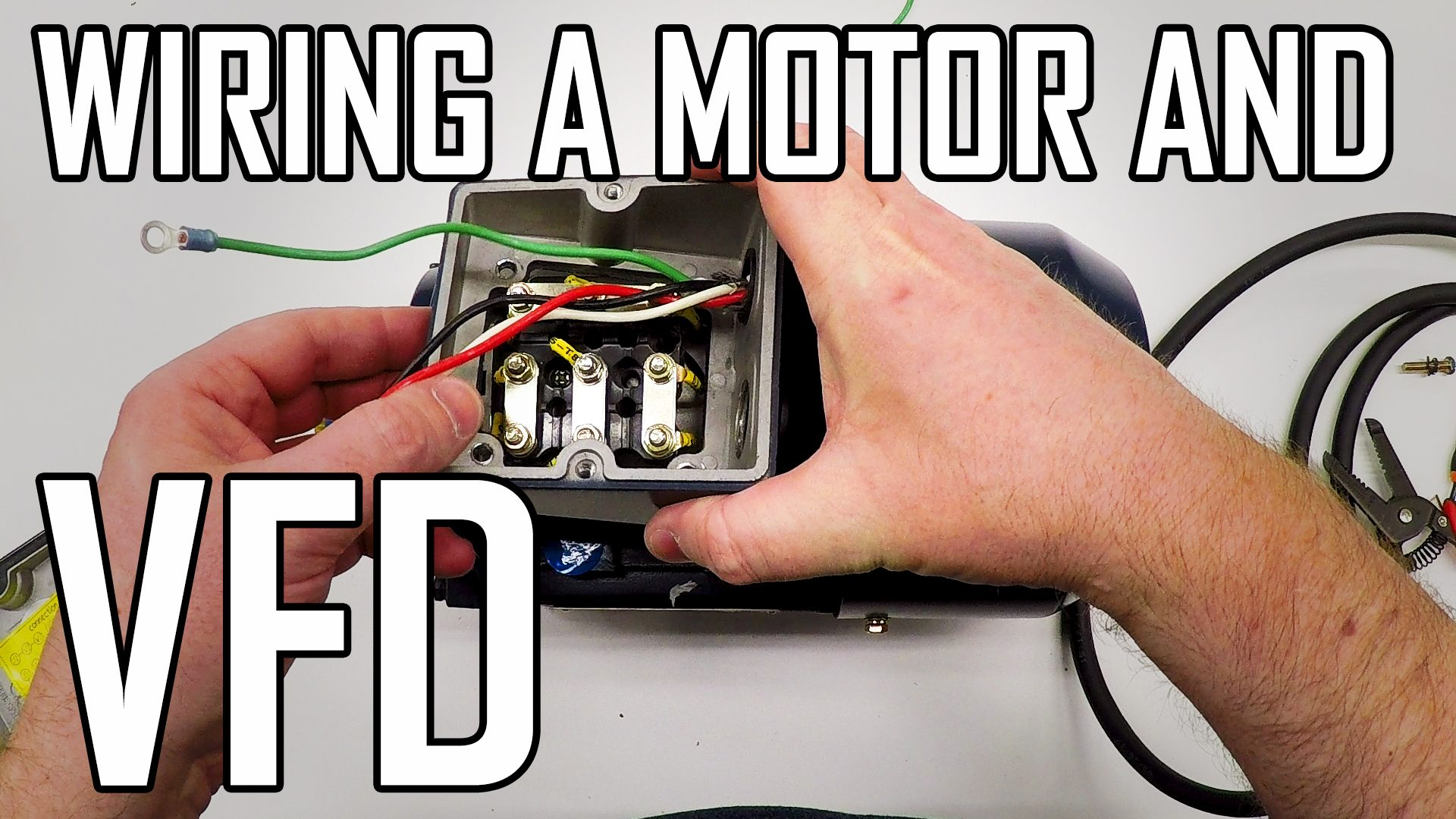 Wiring a Motor and VFD for a Grizzly G0602 Lathe
