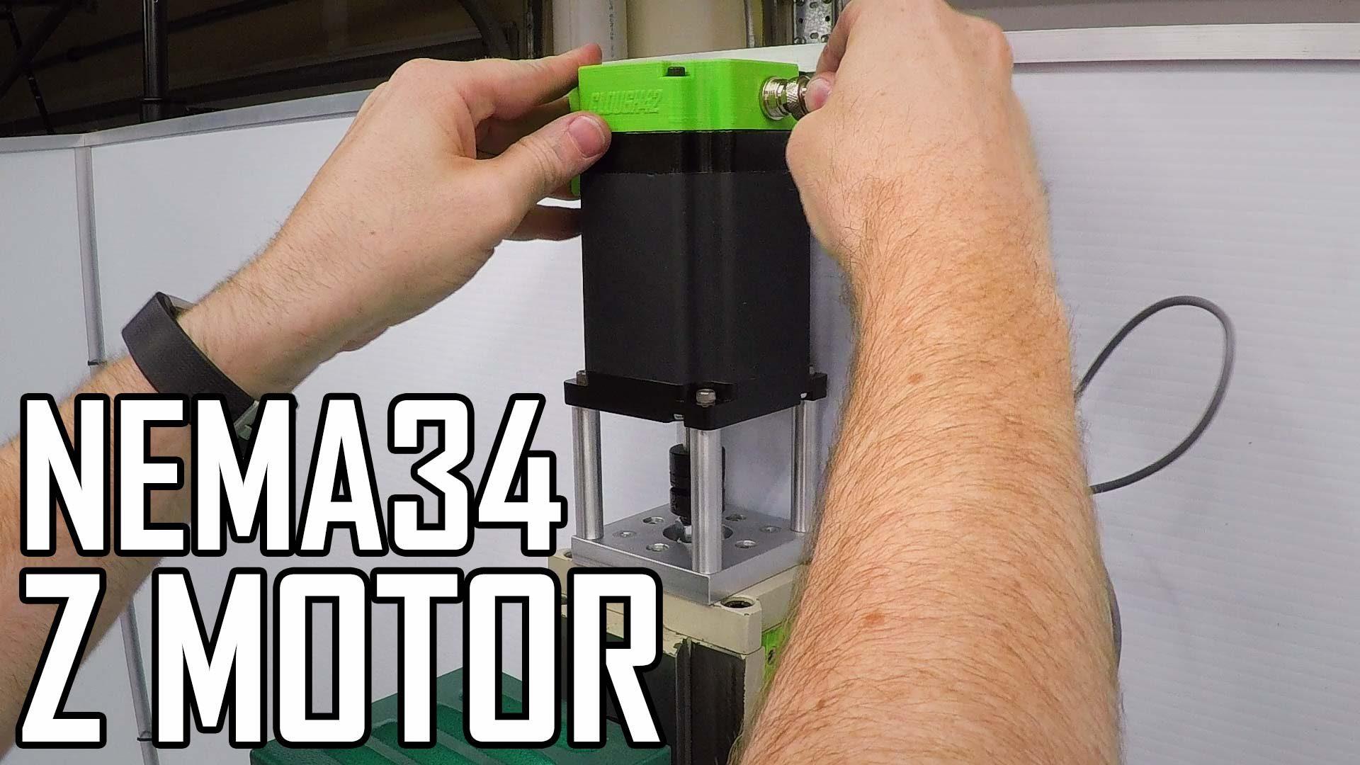 Z Motor Part 2: Installing a NEMA34 stepper motor and CNC mill tour