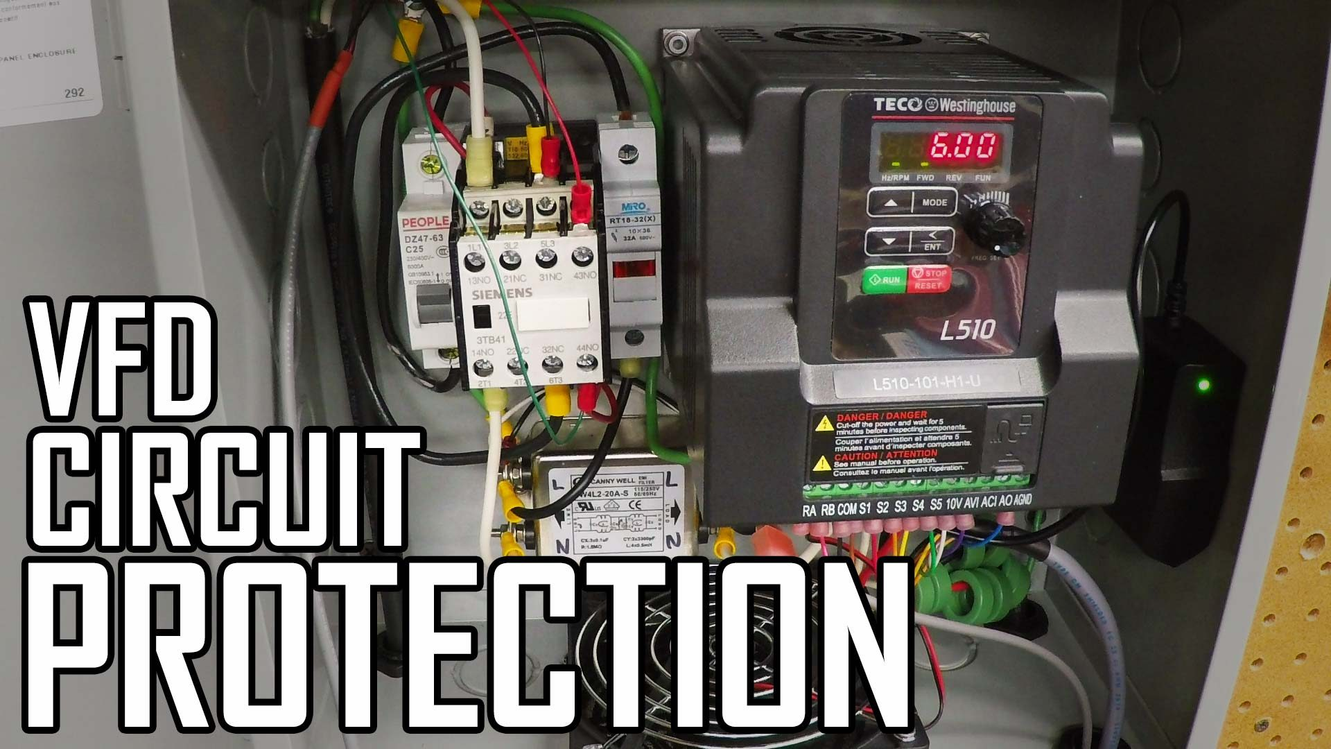 Lathe VFD 8: How to Wire Circuit Protection (Breaker and Fuse)