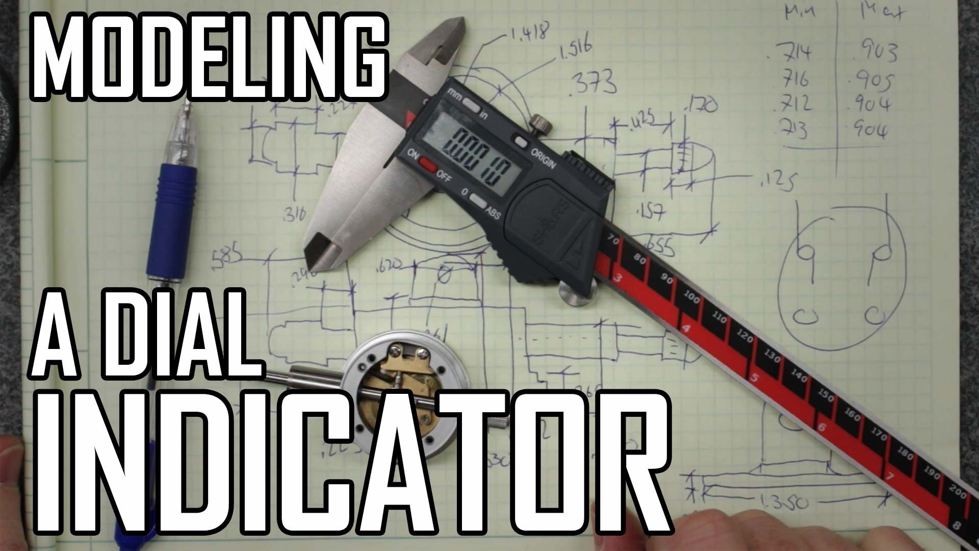 Toolpost Dial Indicator Part 1: Modeling the Indicator