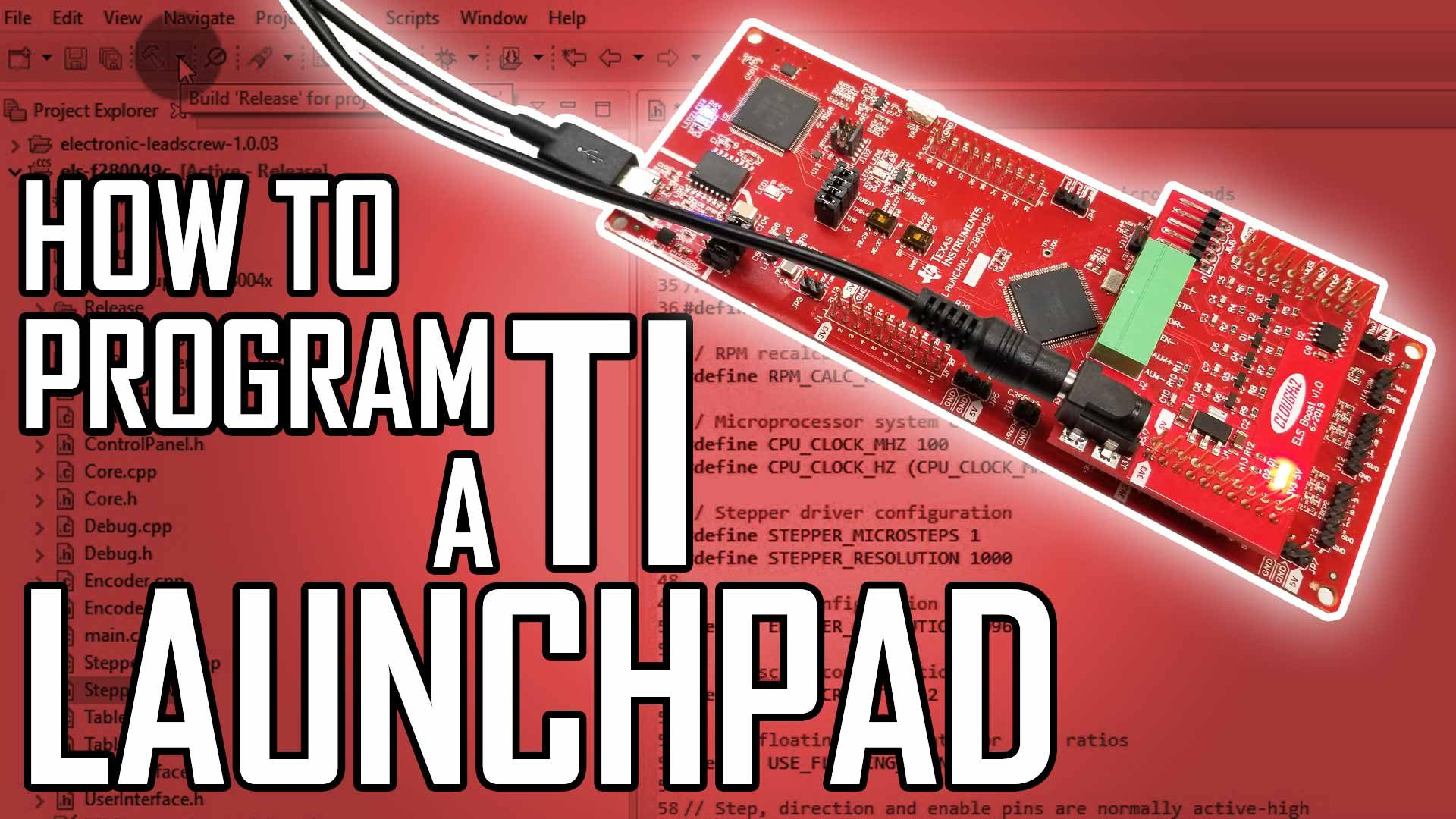 Lathe Electronic Leadscrew Part 10: How to Program a TI LaunchPad Microcontroller