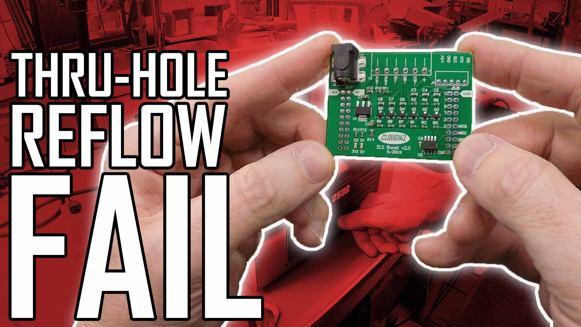 Through-Hole Reflow Soldering and Ultrasonic PCB Cleaning