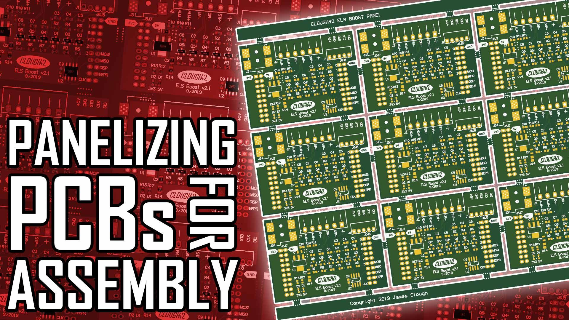 Panelizing PC Boards for Assembly with Free Software