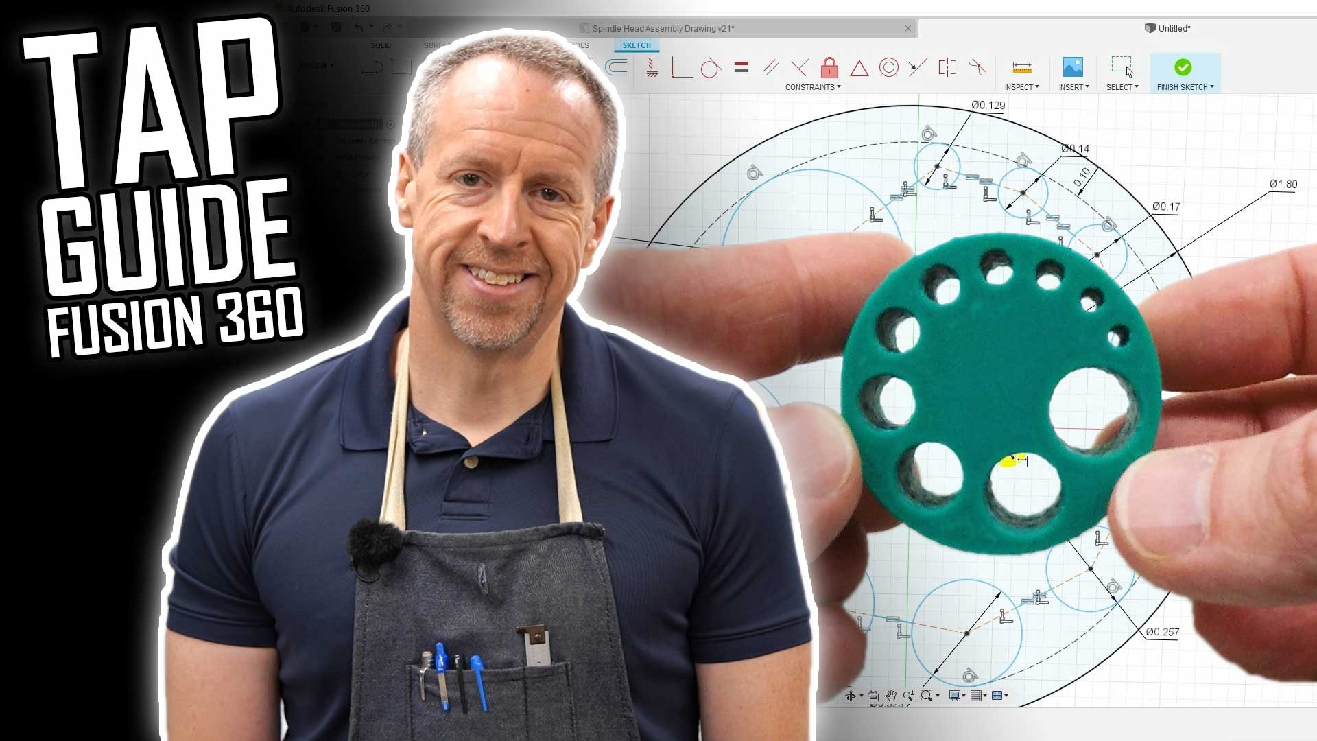 Designing and 3D Printing a Tap Guide Block in Fusion 360