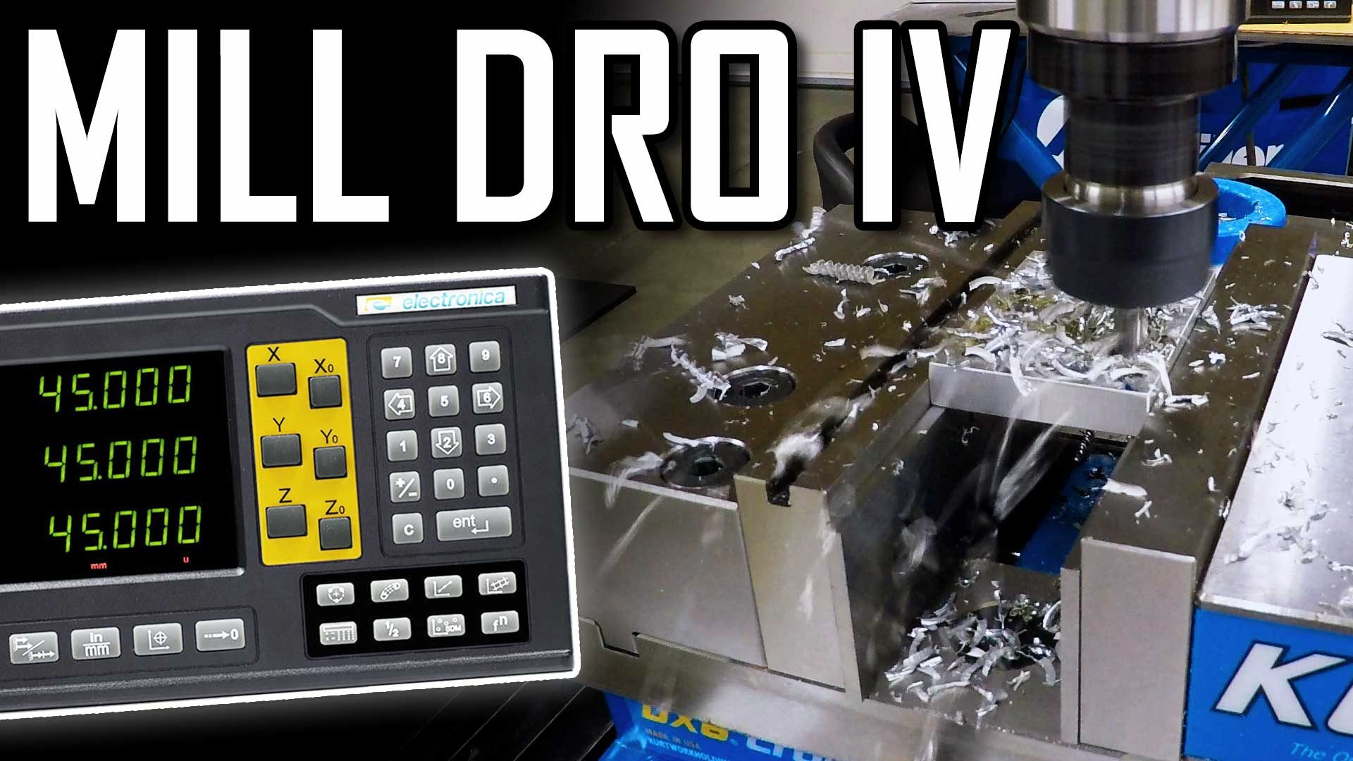 Installing a DRO on a PM-940 Milling Machine – Part 4 – 4-Axis EL400